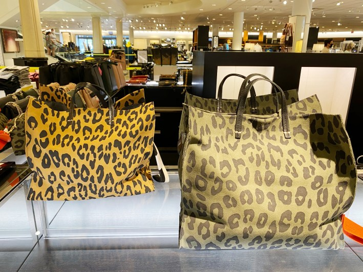 Clare V. suede leopard tote bag in two colors