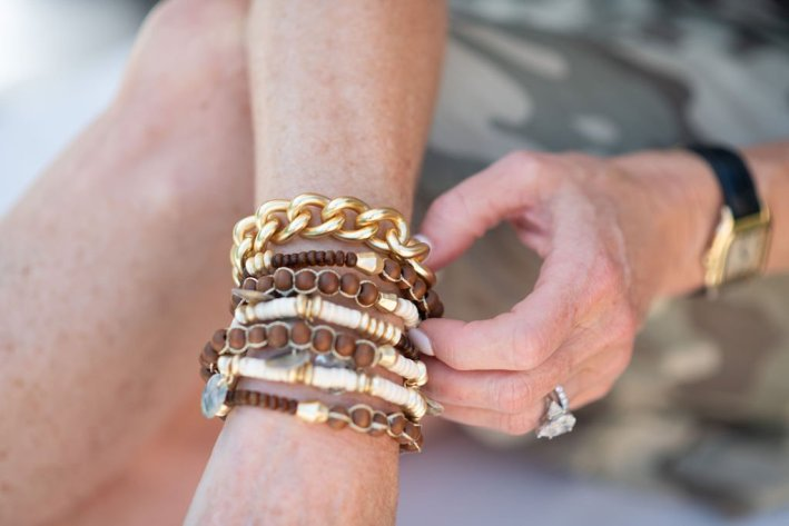 chico's bracelet and necklace wrapped as a bracelet
