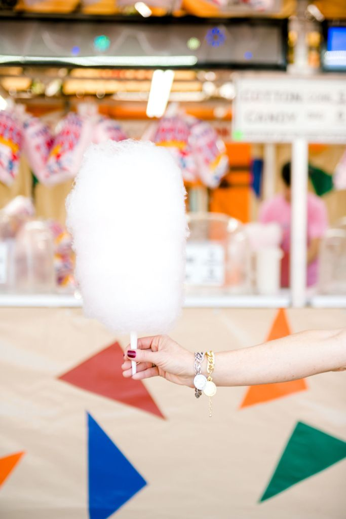 cotton candy at the Texas State Fair