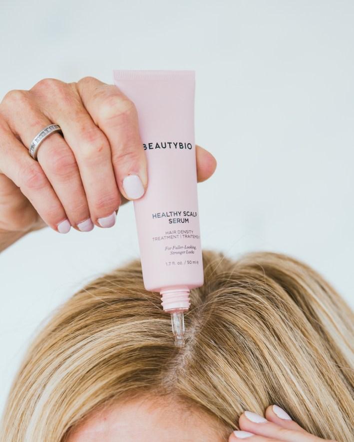 tanya foster using beautybio hair scalp serum