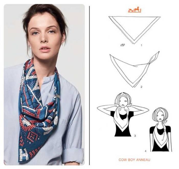 Hermes scarf tie tutorial