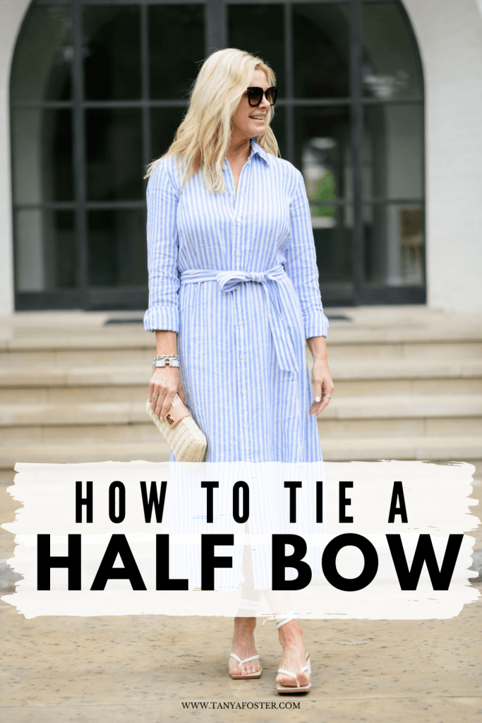 how to tie a half bow tanya foster