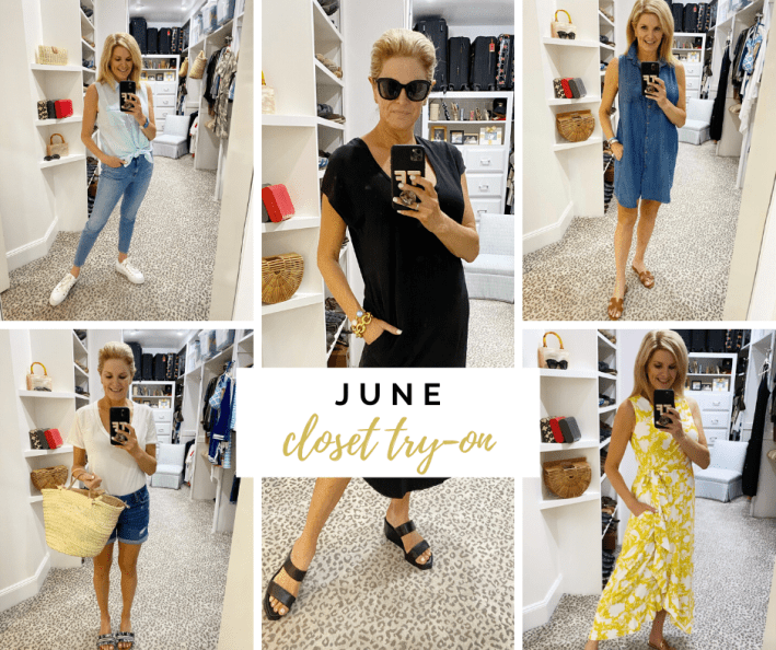 June closet try-on summer looks collage