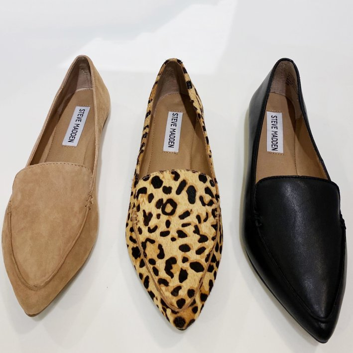 steve madden loafers in three colors