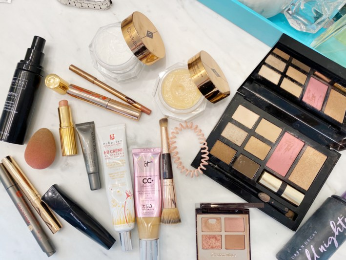 charlotte tilbury and mary kay make-up on a counter