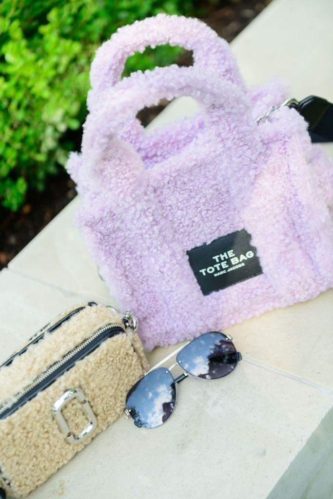 Marc Jacobs shearling handbags and sunglasses