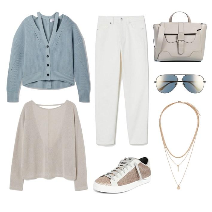 blue and cream fashion edit