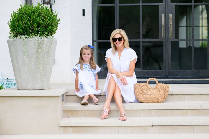 Tanya Foster and girl in J. Marie Collections dresses the brand that is perfect for all ages