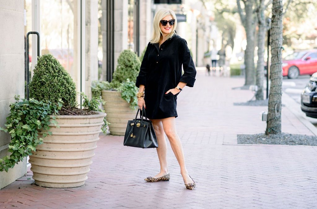 How to Style a Corduroy Dress