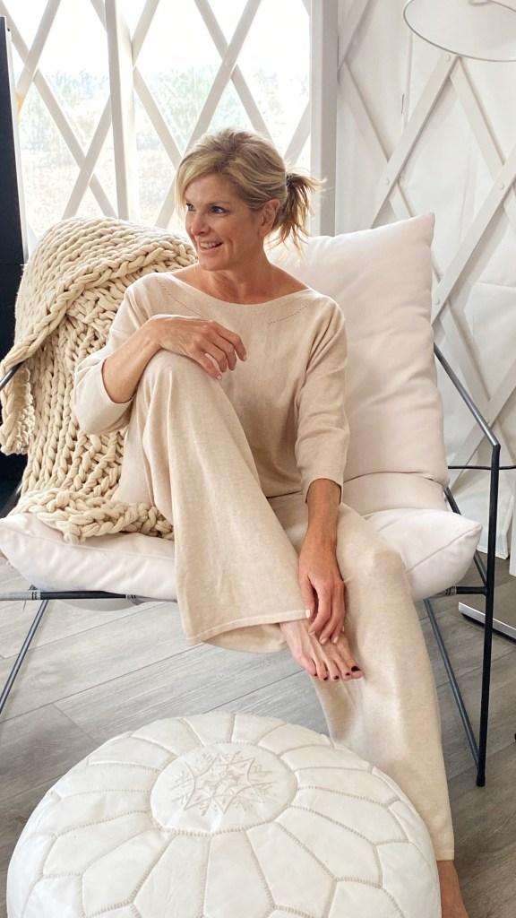 tanya foster in soma pajamas loungewear