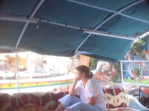 me on the boat- thinking