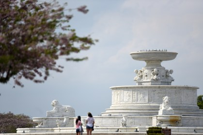 DetroitÕs Belle Isle is in full bloom after heavy May rain. Warm weather brought hundreds to the island to picnic, fish, bike and even swim as a few braved the chilly Detroit River to cool off in the 80 degree temperatures May 8, 2015. (Tanya Moutzalias | MLive Detroit)