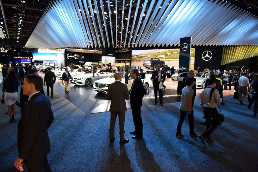 The Mercedes-Benz display at the 2016 North American International Auto Show at Cobo Center in Detroit, Jan. 12, 2016. (Tanya Moutzalias | MLive Detroit)