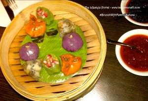 Baskets of beautifully crafted dumplings @ Hakkasan