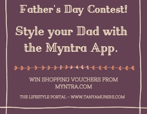 Myntra father's day contest