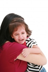 """""""Girl Crying In Mothers Arm"""" by David Castillo Dominici"""