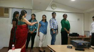 Dr. Nita Jagad explaining a role play to the participants