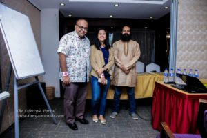 Avishek with Tanya Munshi and Sanjay Mukherjee