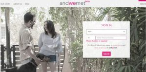 It just takes 20 minutes to find your partner at andwemet.com