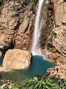 Heavenly aqua pool revealed itself like a secret