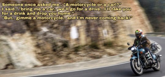 Motorcycles - What makes Udit the happiest. Photo credit: WonderPath