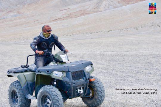 Umang enjoying the best of adventure, thrill & travel in Leh, Ladakh. June 2016