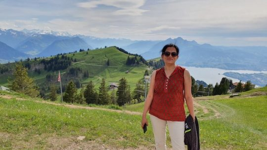 Mrigakshi Hiking Up – Mt. Rigi in Switzerland