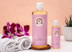 Gloriously soothing Lavender Oil from Indrani Cosmetics