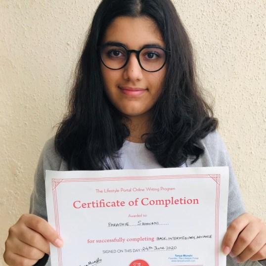 Parashie Sidhwani_certificate