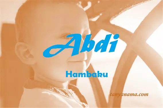 arti nama Abdi