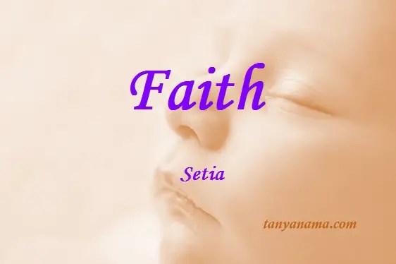 arti nama faith