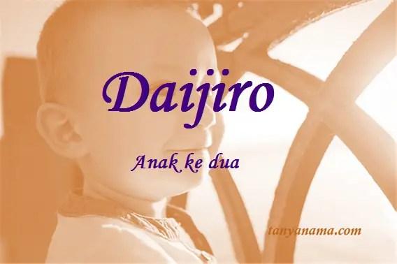 arti nama Daijiro
