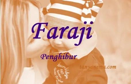 arti nama Faraji