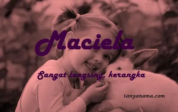 arti nama Maciela