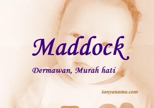 arti nama Maddock