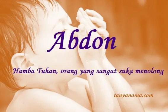 arti nama abdon