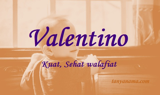 arti nama valentino