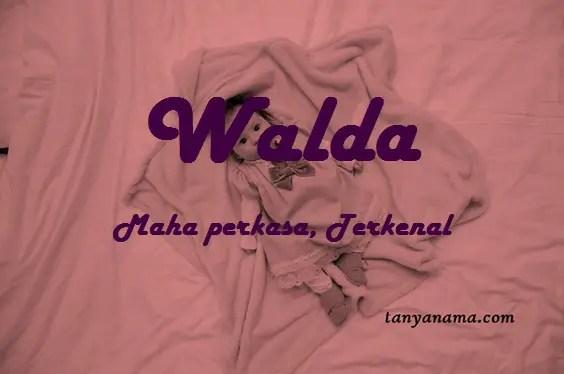 arti nama walda