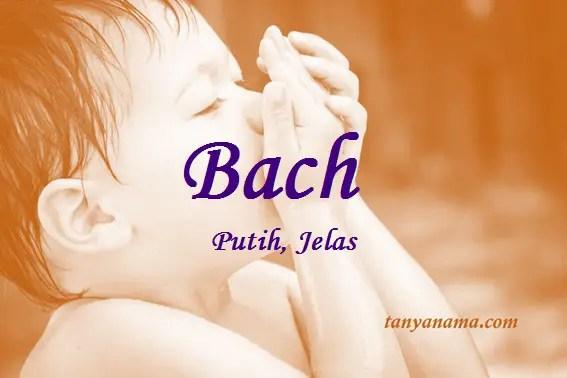 Arti nama Bach
