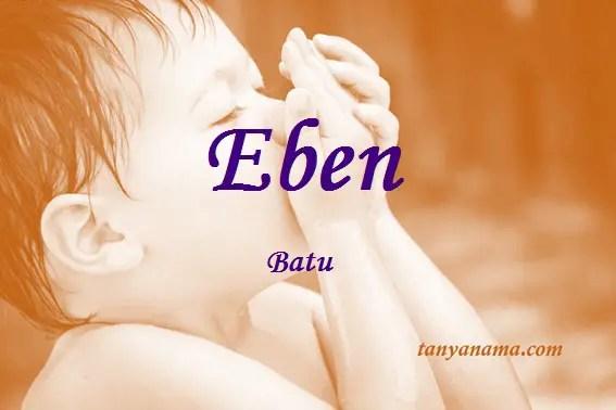 arti nama Eben