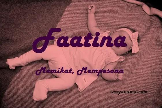 arti nama Faatina