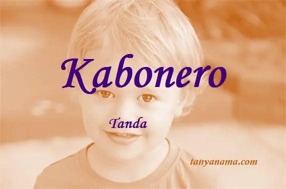 arti nama Kabonero