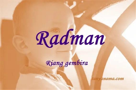 arti nama Radman