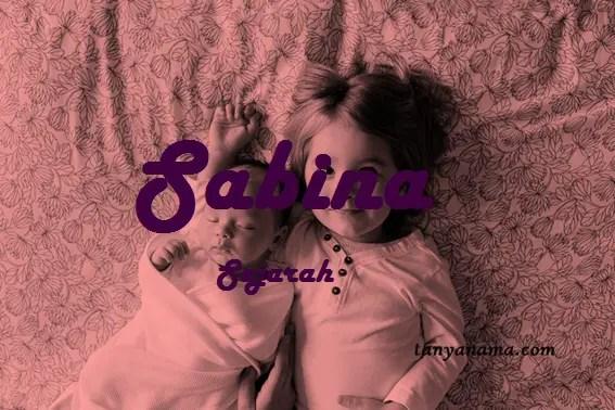 arti nama Sabina