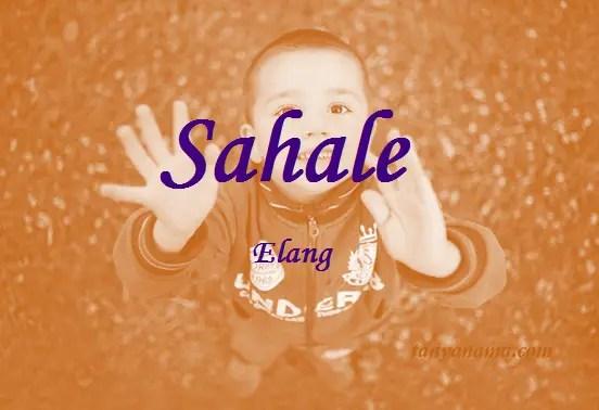 arti nama Sahale
