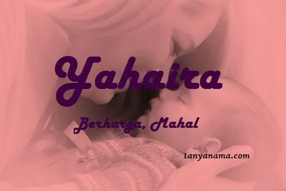 arti nama Yahaira
