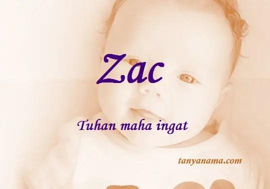 arti nama Zac