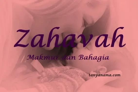 arti nama Zahavah