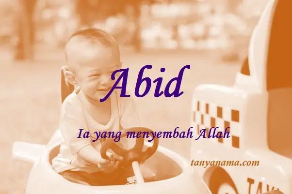 Arti Nama Abid Dan Rangkaian Namanya Tanya Nama