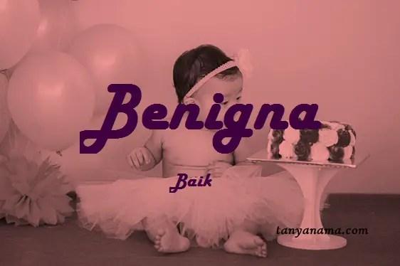arti nama Benigna